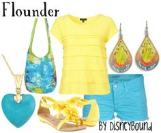 """Another outfit based on Flounder from """"The Little Mermaid"""""""