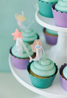 Mermaid Party Cupcak