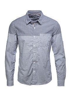 chemise à carreaux et à rayures