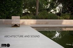 Sound and Architecture integration. Cube in classic travertine, omnidirectional sound module designed by Vladimir Djurovic for Architettura Sonora