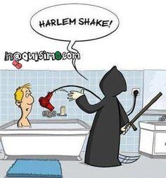 Harlem Shake imagen graciosa, bañera secadora calabera