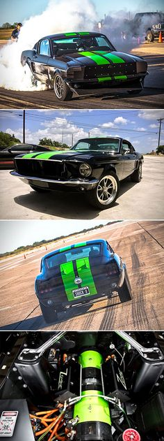 Zombie 222 // electric 68 Mustang, 800+ hp, 0-60 in 2 sec, 175mph top, full interior, full body, street legal, Bloodshed Motors... there's an electric car I'd own