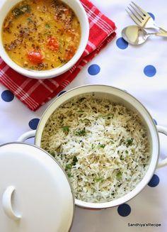 Sandhiya's Recipes: Jeera Rice/Jeera Pulao - Pressure cooker method