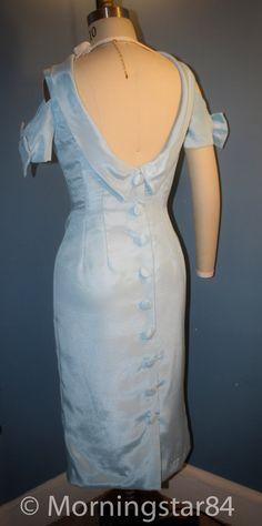 Marilyn Monroe Wiggle Dress Light BlueBow by Morningstar84 on Etsy, $185.00