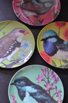 Melamine Bird Plates www.iotabristol.com