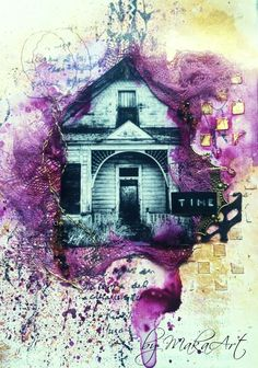 "My art journal page ""The lost time...""  My journey through the Scrapbookworld...: *The lost time...*"