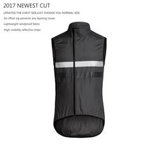 SPEXCEL 2017 new cut High visibility reflective Lightweight cycling gilet sleeveless windproof cycling windbreaker free shipping