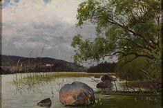 Fanny Churberg - Shore landscape, oil on canvas - EMMA – Espoo Museum of Modern Art Chur, History Images, Art History, Old Paintings, Landscape Paintings, Landscapes, Google Art Project, Art Academy, Japanese Painting