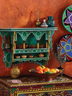 Create the look of a Moroccan-style, boho-chic home with our Morocco Collection characterized by vibrant colors, authentic Safi ceramics and handcrafted textiles. Moroccan Decor Living Room, Moroccan Kitchen, Moroccan Room, Moroccan Home Decor, Moroccan Interiors, Moroccan Style Bedroom, Moroccan Furniture, Moroccan Lanterns, Moroccan Tiles