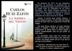 La sombra del viento. Carlos Ruiz Zafón. EduRead: #RecomiendoLeer @davidgscom Hidden Places, Book Reviews, Recommended Books