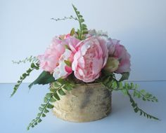 Rustic Woodland Birch Vase with Roses and by BirchHouseMarket, $56.00