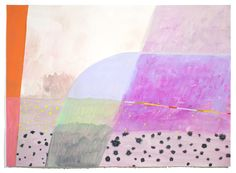 """""""summer song"""" by Ashely Peifer. Acrylic, gouache, and latex on paper."""