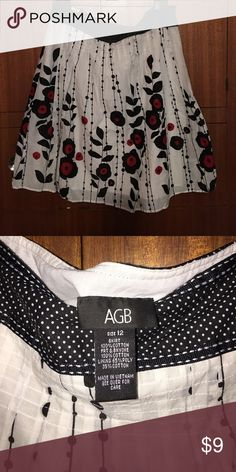 Cotton skirt Super cute floral pattern! Fun for dressy or casual. Dry clean only. AGB Skirts A-Line or Full