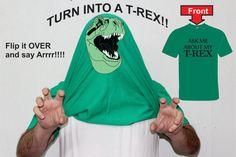 Ask Me About My T Rex Funny t Shirt Dinaour TRex Shirt T Rex TShirt Mens Womens Kids Shirts Tshirts Flip up Shirt