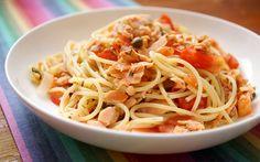 Spaghetti mit geräuchertem Lachs und Kapern von Ellerepublic.de