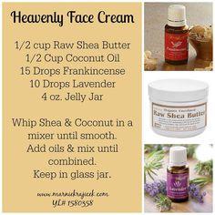 Heavenly Face Cream made with Young Living Essential Oils www.marniekrajicek.com #1580358