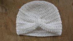 White Crocheted Baby Girl Hat Crochet Baby by everythingswhite