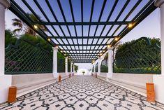 Entrance to Kalithea Therme Springs in Rhodes,Greece at Evening Greece Travel, Crete, Entrance, Rhodes, Entryway, Door Entry, Greece Vacation