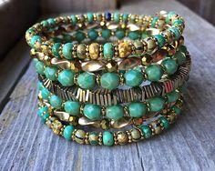 Fall Fashion Delight Multi Strand Memory Wir Bracelet With Memory Wire Jewelry, Memory Wire Bracelets, Bracelets For Men, Boho Jewelry, Jewelry Crafts, Jewelry Ideas, Beaded Jewelry, Jewelry Bracelets, Jewelery