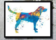 Labrador Watercolor Print Dog Art Children's Wall by BogiArtPrint