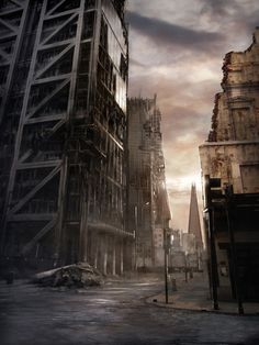 James Chadderton   Apocalype style digital imagery   The Shard, London