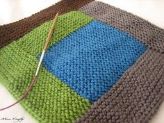 """knitted log cabin """"quilt"""""""