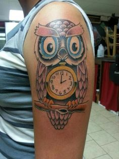 Catchy Owl Tattoo