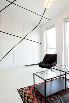 small minimalist black and white apartment design