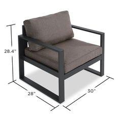 2-Piece Baltic Patio Chair with Cushion | Joss & Main