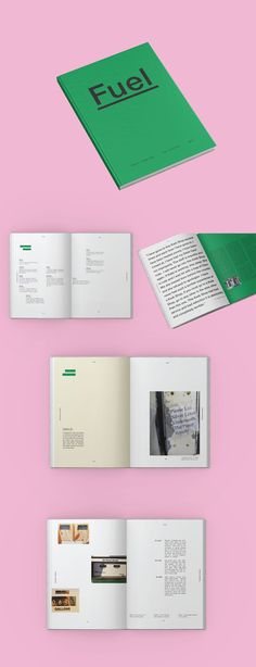 Fuel is a book that explores the typography foundat gas stations. It shows examples found on gaspumps, secondary distractions, and the environmentof the stations themselves.