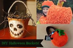 A fun craft for this weekend to get ready for #Halloween 5 Fun DIY Halloween Buckets For Trick-or-Treating!