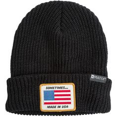 Matix Sometimes Beanie ($39) ❤ liked on Polyvore featuring accessories, hats, black, cable hat, black beanie hat, acrylic beanie, matix and black cable knit beanie