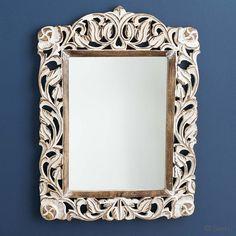 Whitewashed Medium Mirror