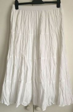 a5b7c1766 White Crinkled Skirt Size 12 #fashion #clothing #shoes #accessories  #womensclothing #