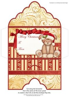 CHRISTMAS MONEY WALLET WOOFLY CHRISTMAS on Craftsuprint designed by Janet Briggs - Christmas money wallet or gift voucher holder, featuring cute dog in Santa hat. Coordinates with cup585095_68Sentiment tag on the front reads Merry Christmas and includes space for a To and From message. - Now available for download!