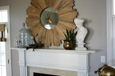 Our Mantel Styled Two Ways - Emily A. Clark
