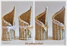 Поделка изделие Плетение Работы в июне и июле Трубочки бумажные фото 6