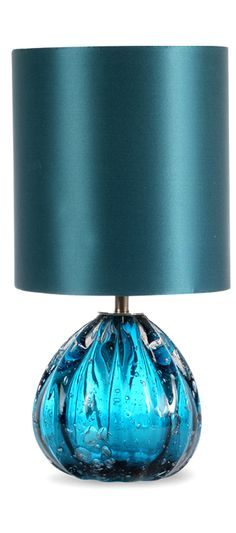 Table Lamps, Designer Modern Turquoise Blue Art Glass Table Lamp, so beautiful, one of over 3,000 limited production interior design inspirations inc, furniture, lighting, mirrors, tabletop accents and gift ideas to enjoy repin and share at InStyle Decor Beverly Hills Hollywood Luxury Home Decor enjoy & happy pinning