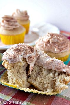 Snickerdoodle Cupcakes... Not too sure, but might have to try this!!