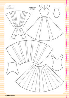 Paper Embroidery Ideas Template for paper dress More More - Here are all your free templates for the projects in issue including Jenny Hodges' 3d Templates, Scrapbook Templates, Scrapbook Cards, Scrapbooking Ideas, Clothing Templates, Card Templates Printable, Card Making Templates, Origami Vestidos, Origami Dress