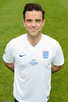 Robbie williams has some fun during soccer aid 2014 robbie williams