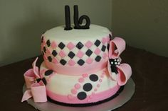 Sweet 16 cake By kthomas54 on CakeCentral.com