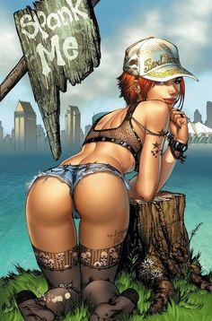 Artwork by Eric Basaldua Fantasy Art Village Social Network for Fantasy, Pinup, and Erotic Art Lovers! Chica Fantasy, Anime Fantasy, Fantasy Art, Fantasy Women, Boris Vallejo, Adult Cartoons, Sexy Cartoons, Art Manga, Anime Manga