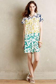 WHIT Two Blocked Blooms Shirtdress #anthroregistry
