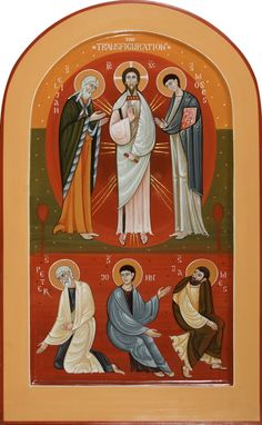 Contemporary icon for Christian church, commission new sacred icon. Icons of Christian feasts, painted by iconographers Philip Davydov and Olga Shalamova. Raphael Angel, Archangel Raphael, Transfiguration Of Jesus, Pictures Of Jesus Christ, Holy Quotes, Byzantine Art, Painting Workshop, Early Christian, Albrecht Durer