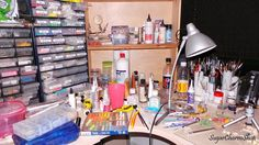 SugarCharmShop Craft; Polymer clay, jewelry and 1:12 scale miniatures: My work space