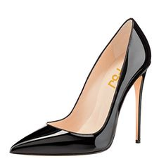 FSJ Women Pointed Toe Pumps High Heel Stiletto Shoes Dress Pumps Slip On Black 11... About FSJ: FSJ is brand of Footwear (both Women and Men Shoes) in the field of Fashion Industry, having more than 20 years production experience, providing the customized service to each of our customers. We firmly hold the philosophy that shoes are not just about fashion but the attitude of......http://bit.ly/2hW9DQs