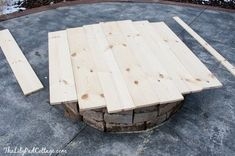 DIY Fire Pit Table Top - The Lilypad Cottage