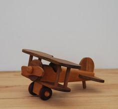 Wooden toy airplane plane ornament vintage by LostPropertyVintage, £10.00