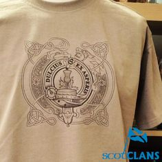 Clan Crest Celtic Lion T-Shirt   *Any Clan Crest*. Free worldwide shipping available